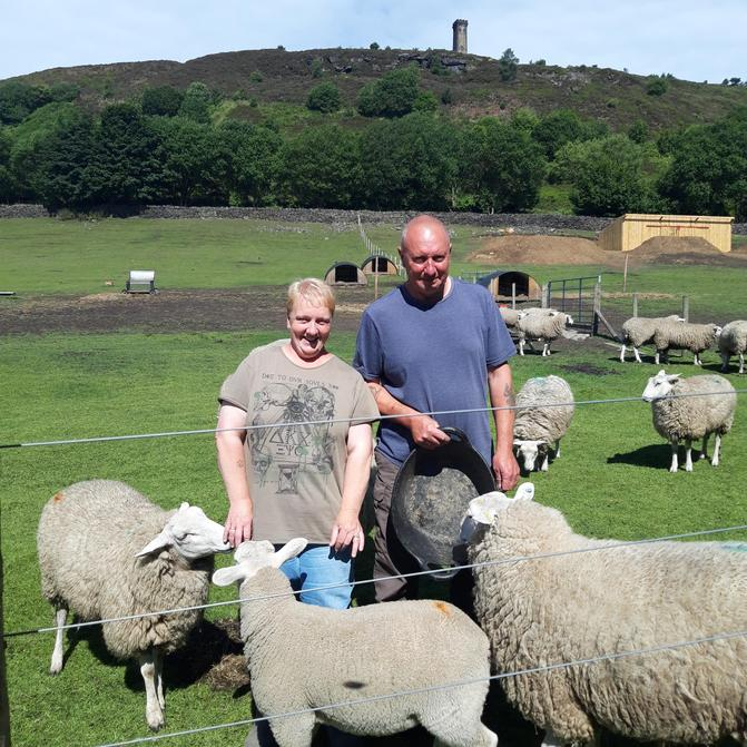 Lovely Mick and Jane. Who donated their Alpacas beans for our project