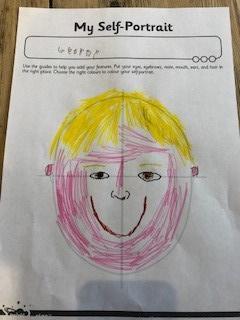 George's self-portrait