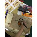 Making papyrus paper