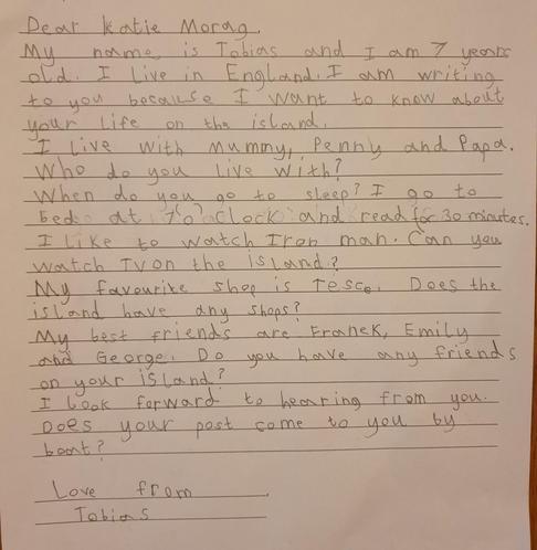 Tobias' Letter to Katie Morag