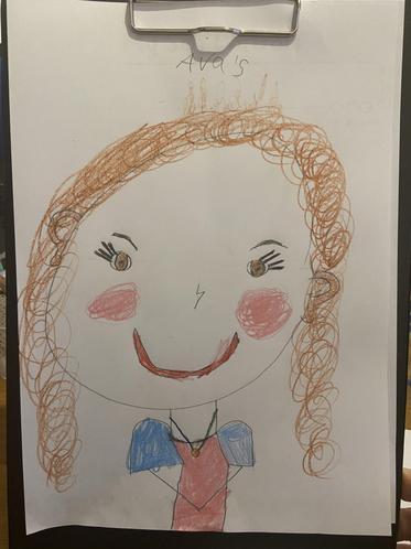 Ava's self portrait