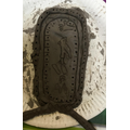 Making a clay cartouche