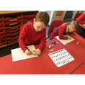 Writing on our scrolls using the Hebrew alphabet