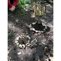 Building Stone Age villages with natural material