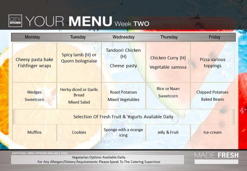 Week Two Menu