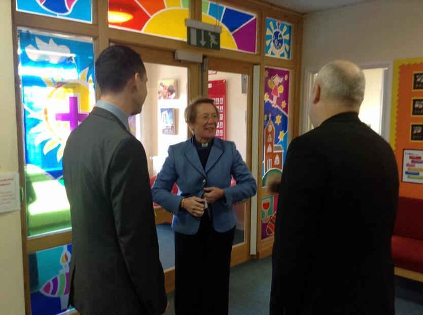 Bishop Steven with Mr Cranfield & Rev Mandy Elmes