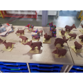 A few finished clay elephants!