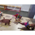 Our clay patchwork elephants!