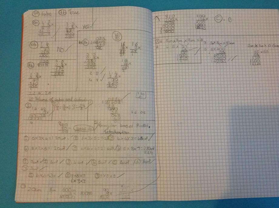 EB volume maths work - accurate!