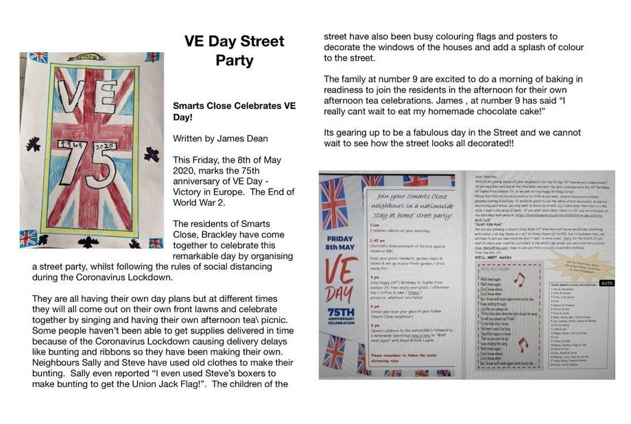 A VE Day report by JD