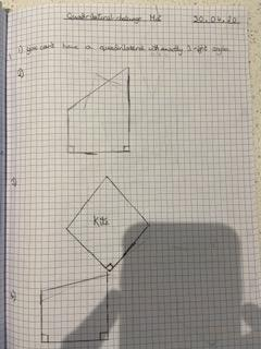 WR quadrilaterals work - neat drawing