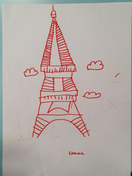 IL's artwork of the Eiffel Tower