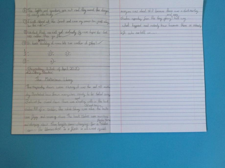 EB creative writing - excellent!