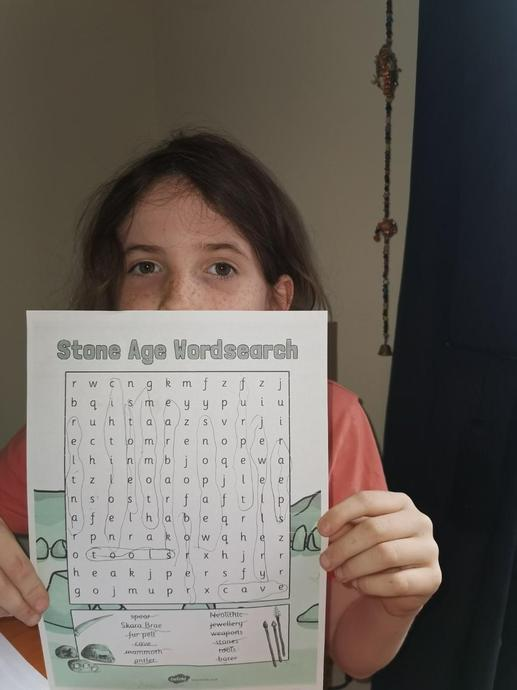 A Stone Age wordsearch