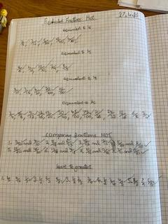 WR spot-on with equivalent fractions - fab!
