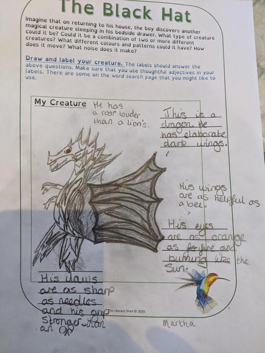 Matha's dragon from The Black Hat