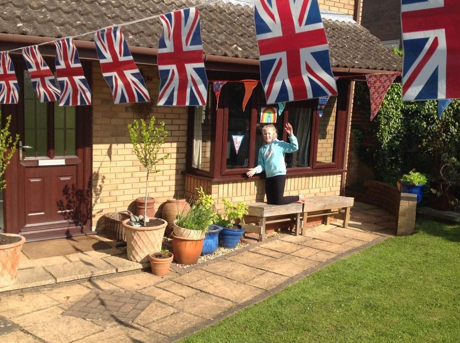 EB: very colourful and patriotic bunting