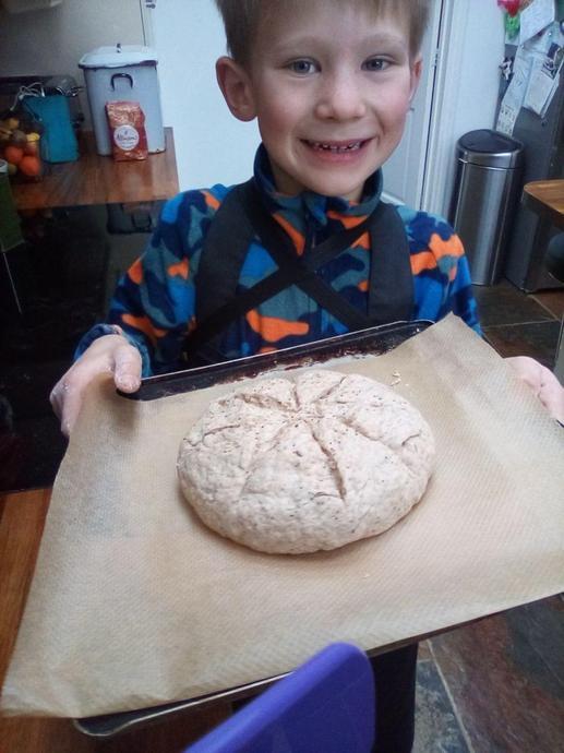 Roman spelt bread