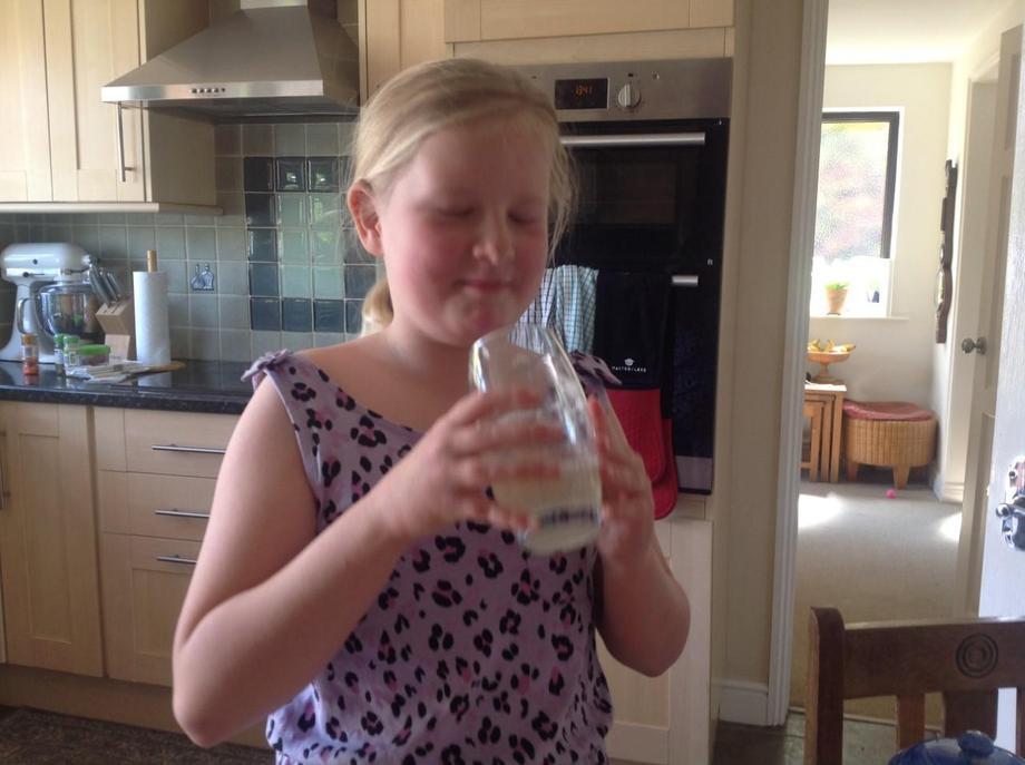 EB homemade lemonade: does she like?!