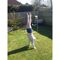 EB personal handstand challenge - she can do itt
