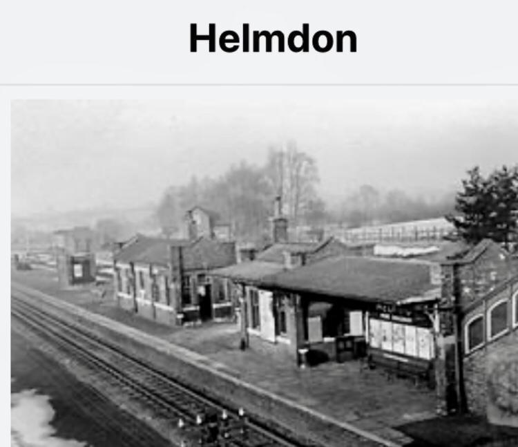 The old railway station in Helmdon