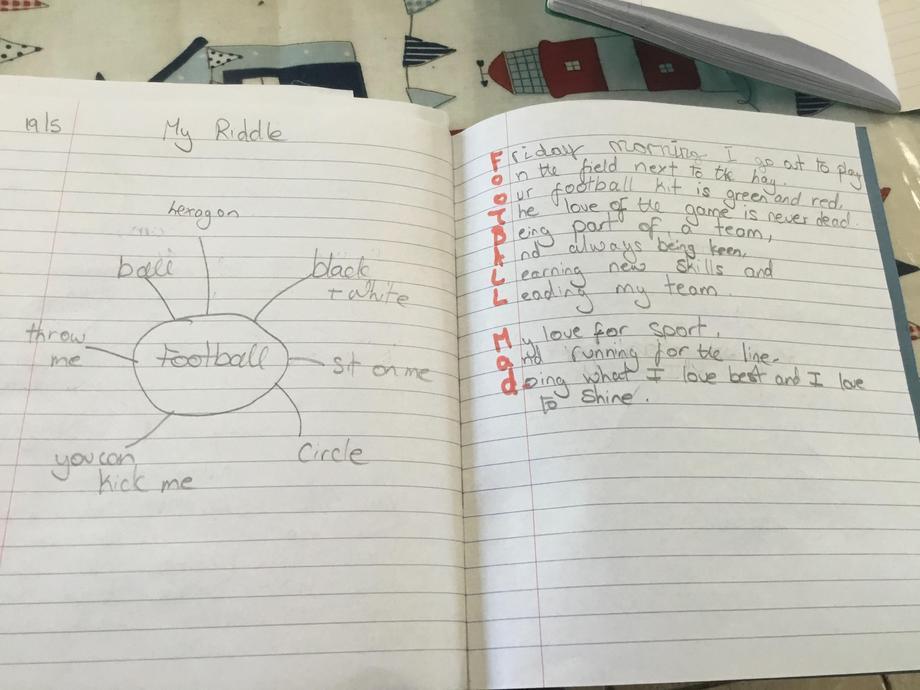 Henry's football poem