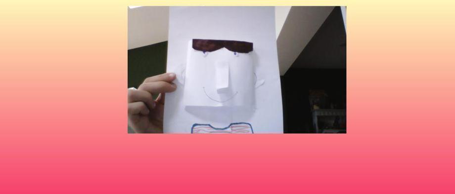 HD hiding behind her 3D friend