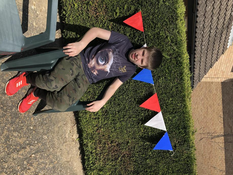JR waiting to celebrate VE Day!