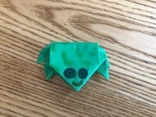 BG's very cute origami frog