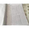 CD maths - a page of ticks!