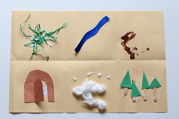 This a simple way of using different materials to make a Bear Hunt Map