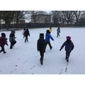 We enjoyed making footprints in the snow!