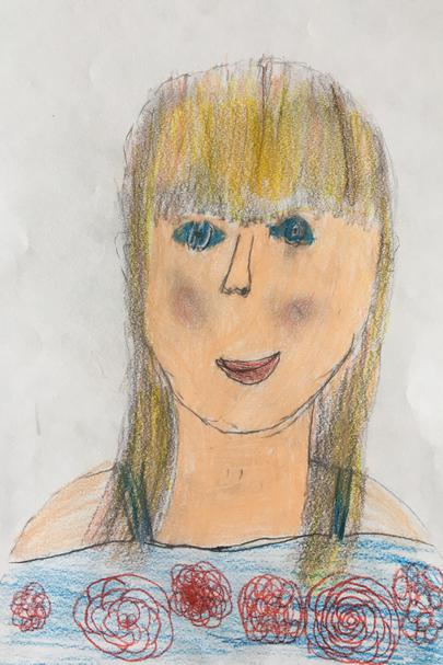 Miss Livens by Elsie in 3A