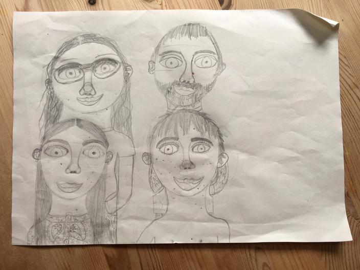 A fantastic family portrait, by Joni in Winter.