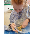 Mixing biscuit dough independently