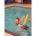 Swimming with a woggle