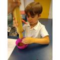 Making soil!