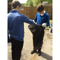 Rubbish collecting in the local community