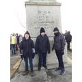 At the Moreuil Wood memorial