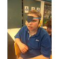 A denim eye patch for Jeans for Genes day!