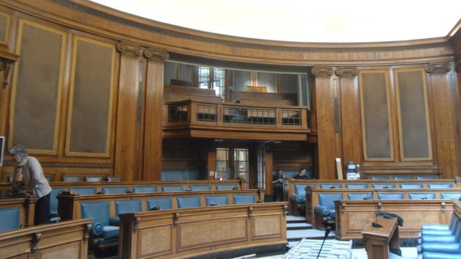 Inside the court room