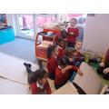 We used a box as a prop to support role play