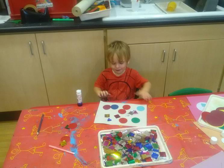 Exploring colours and shapes