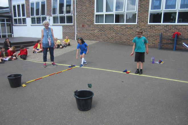 Children involved in the House Group Challenge!