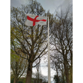 St. George's flag flying