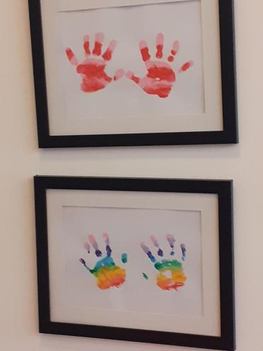 EYFS colour mixing and printing