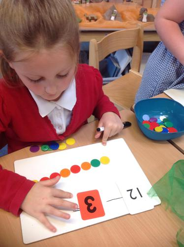 we used counters to help us to solve subtraction number sentences.