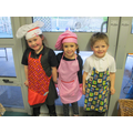 Gracie, Robyn and Kye would like to be chefs.