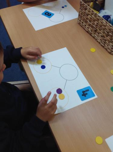 We split a number into different groups.