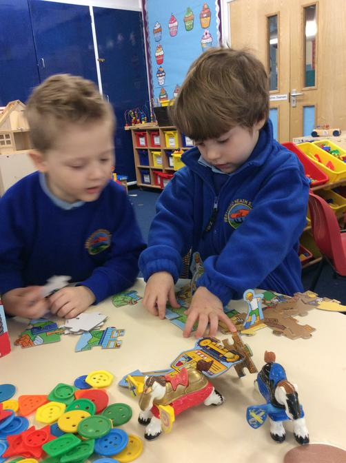 Completing the new building site puzzle.